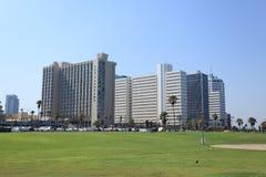 Tel Aviv Charles Clore Park & Skyscrapers Stock Images