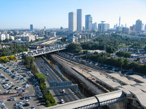 Tel Aviv City. View of major roads and city centre skyline of Tel Aviv, Israel royalty free stock photography