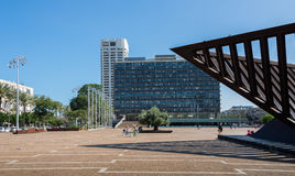 Tel Aviv city hall. A walk in Tel Aviv, Israel stock images