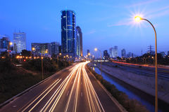 Tel-Aviv city view at evening. Stock Photography