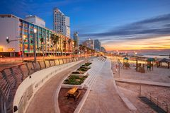 Tel Aviv. Cityscape image of Tel Aviv, Israel during sunset stock photos