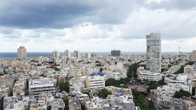 Tel - Aviv cityscape, Israel stock video footage