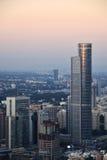Tel Aviv cityscape på solnedgången Royaltyfria Bilder