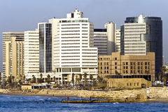 Tel-Aviv cityscape showing Royalty Free Stock Photography