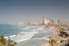 Tel Aviv coast line Stock Images
