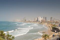 Tel Aviv coast line stock images