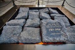 Tel Aviv - 10 02 2017: Cuadrado famoso de Yitzhak Rabin, tiempo del día Fotografía de archivo