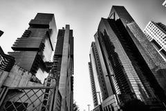 Tel Aviv - 9 de diciembre de 2016: Edificios altos en el CEN de la ciudad de Tel Aviv Fotos de archivo