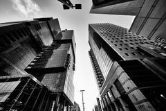Tel Aviv - 9 de diciembre de 2016: Edificios altos en el CEN de la ciudad de Tel Aviv Imágenes de archivo libres de regalías