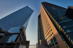 Tel Aviv - 9 December, 2016: Lange gebouwen in de stadscen van Tel Aviv Stock Afbeeldingen