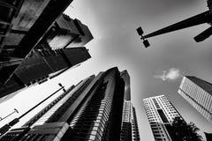 Tel-Aviv - 9 December, 2016: Tall buildings in Tel Aviv city cen Stock Photography