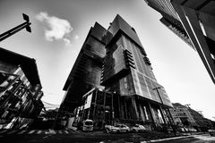 Tel-Aviv - 9 December, 2016: Tall buildings in Tel Aviv city cen Stock Photos