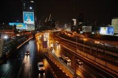 Tel Aviv 03 December, 2016: Tel Aviv city at night, Ayalon high- Stock Images
