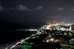 Tel Aviv del Nord alla notte Fotografie Stock Libere da Diritti