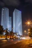 Tel Aviv en la noche Foto de archivo libre de regalías