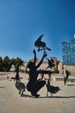 Tel Aviv - 10 02 2017: Esterno del museo di arte di Tel Aviv e monu di arte Immagine Stock