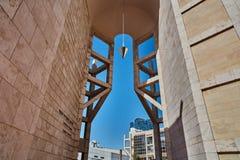 Tel Aviv - 10 02 2017: Esterno del museo di arte di Tel Aviv e monu di arte Immagini Stock