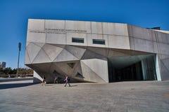 Tel Aviv - 10 02 2017 : Extérieur de Musée d'Art de Tel Aviv et monu d'art Photos libres de droits