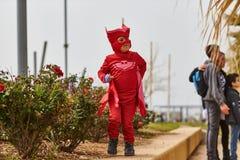 Tel Aviv - 20 février 2017 : Costumes de port de personnes en Israël d Images stock
