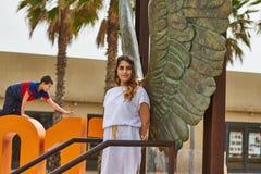Tel Aviv - 20 febbraio 2017: Costumi d'uso della gente in Israele d Immagine Stock