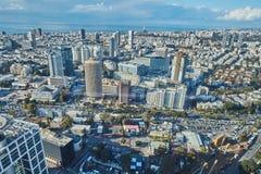 Tel Aviv - February 2, 2017: Aerial photography of the city Tel Royalty Free Stock Photo