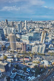 Tel Aviv - February 2, 2017: Aerial photography of the city Tel stock photography