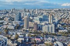 Tel Aviv - February 2, 2017: Aerial photography of the city Tel Stock Photo