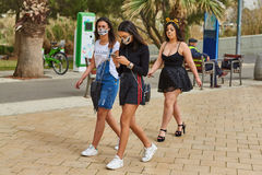 Tel Aviv - 20 February 2017: People wearing costumes in Israel d Royalty Free Stock Photos