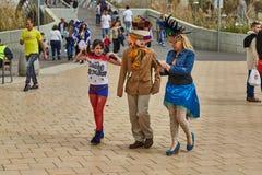 Tel Aviv - 20 February 2017: People wearing costumes in Israel d Royalty Free Stock Photo