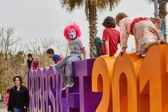 Tel Aviv - 20 February 2017: People wearing costumes in Israel d Stock Photo