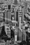 Tel Aviv - 10 06 2017: Flyg- sikt på Tel Aviv vägar och propert Fotografering för Bildbyråer