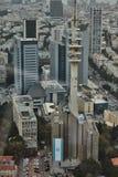 Tel Aviv - 10 06 2017: Flyg- sikt på Tel Aviv vägar och propert Arkivfoton