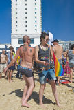 Tel Aviv gay pride party Stock Photos