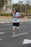 Tel Aviv Gillette Marathon. Overcoming the pain Stock Image