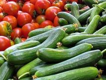 Tel Aviv gurkor och tomater 2012 Arkivfoto