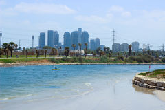 Tel Aviv heights, park Ha Yarkon Royalty Free Stock Photo