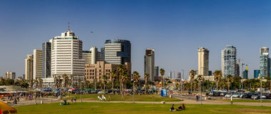 Tel Aviv, high-rise hotels. Panorama Stock Photo