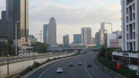 Tel Aviv Highway in Israel stock video