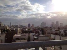 Tel Aviv himmel royaltyfria foton