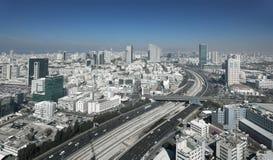 Tel Aviv horisont Arkivfoton