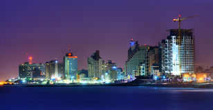 Tel Aviv Hotels and High Rises Stock Image
