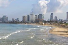 Tel Aviv i vintersäsong Royaltyfria Foton