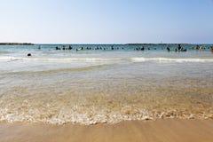 De zomer bij het Strand in Tel Aviv Stock Fotografie