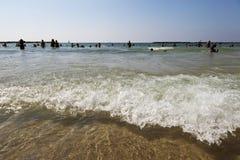 De zomer bij het Strand in Tel Aviv Stock Afbeelding