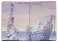Page vide de passeport des Etats-Unis Images libres de droits