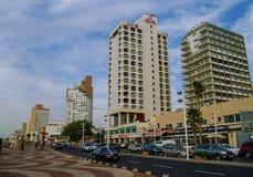 Tel Aviv, Israël 9 December, 2010: Mening van moderne huizen en ca Royalty-vrije Stock Foto's