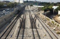 De Spoorweg van het spitsuur Stock Afbeeldingen