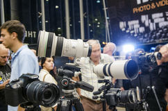 Tel Aviv, Israël - la conférence de Th des 1-8 novembre photographie 2013 Images libres de droits