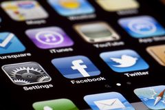 IPhone 4 Apps stock afbeelding