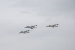 TEL AVIV, ISRAËL 2014 6 Mei: Israëlische Luchtmachtvliegtuigen (drie Royalty-vrije Stock Foto's